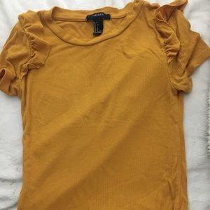 Mustard yellow little shirt